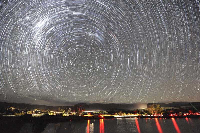 Star trails, photographed by Paul Kruger during the Autumn 2016 SSP